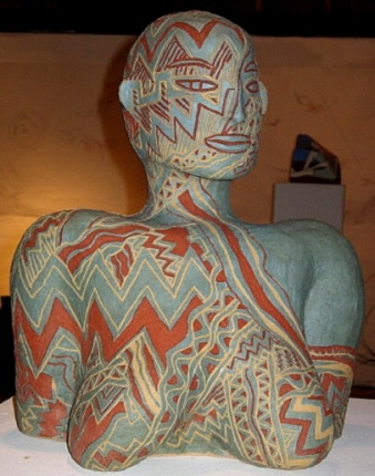 """Eos Re-Emerging,"" ceramic sculpture  by Bea Garth, copyright 2008"