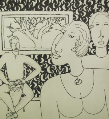 That Drum Beat pen and ink 2013