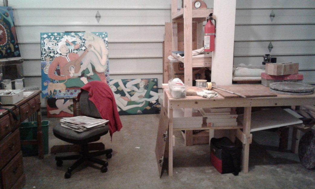 Direct View of Bea Garth's New Art Studio