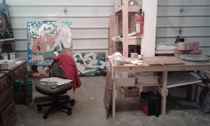 Direct View of Bea Garth's New Art Studio
