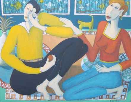 Empathy acrylic on canvas by Bea Garth, copyright 2014