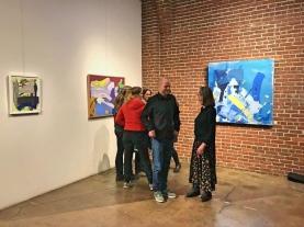 Jordan Clark and Bea Garth at Art Talk and Closing at the Gallery at Cerulean Wine Feb 2018